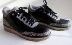 NEW AIR JORDAN AJF3 III 3 Black/ Cement Size 9.5 retro NIKE   $120.00 #Jordan #FashionSneakers