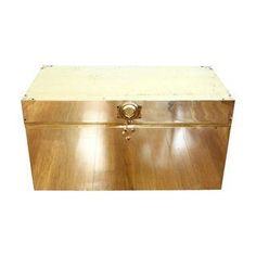 Large Brass Trunk Chest, Cedar Lined