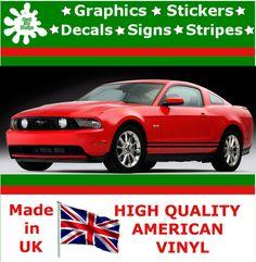 "6"" Racing Stripes Sticker Vinyl Decal Art Car Auto Rally Graphics Viper DS2_6"