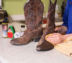Cowboy Boot Care Guide - how to care for smooth leather ...