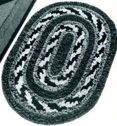 Round and Round Rug ~ Free Vintage Crochet