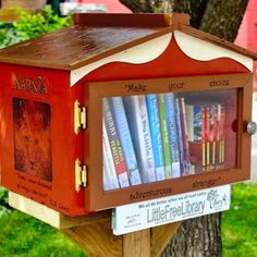 """We discovered this amazing #freelittlelibrary in #brantford today! """"Make your choice adventurous stranger."""" C.S. Lewis #freelittlelibraries #cslewis #quotes #libraries"""