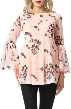 Velvet Blouse Pink Top Baby Pink Sleeve Bow Shoulder Bow Soft Touch Long Sleeves Soft Pink Lace-Up Top Velvet Top Soft Fabric