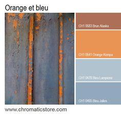 Les oranges brûlés s'accordent parfaitement aux nuances grisées de bleu, leur…