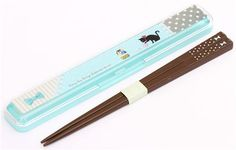 blue cat dots patchwork bento chopsticks by Kamio from Japan 1
