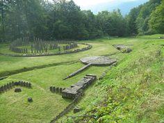 Ruins of Dacian temples (Romania)