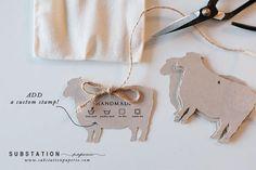 Custom Stamps Hang Tags Handmade Items Sheep