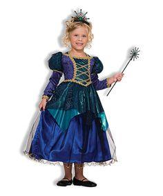 Look what I found on #zulily! Blue Spider-Witch Dress - Girls #zulilyfinds