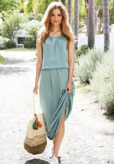 Emerald Green Sunset Dress, Dresses & Skirts, Loungewear | hush | hush-uk.com