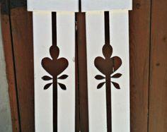 Decorative shutter/fence cutout