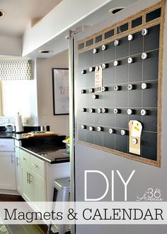 DIY Magnetic Calendar at the36thavenue.com