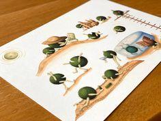 Fabulous moss balls - marimo moss balls / plant art / moss ball art / plant lover illustration / botanical print Marimo Moss Ball, Plant Art, Big Party, Plant Illustration, All Poster, Botanical Prints, Really Cool Stuff, Balls, Color Schemes