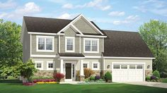 Home Plan HOMEPW77428 - 1969 Square Foot, 3 Bedroom 2 Bathroom Traditional Home with 2 Garage Bays | Homeplans.com