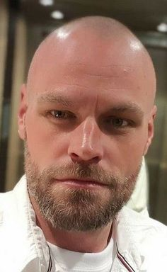 Bald Men With Beards, Bald With Beard, Great Beards, Hairy Men, Bearded Men, Bald Man, Men Beard, Shaved Head Styles, Shaved Heads