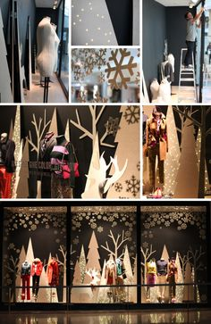 Behind the Scenes on a J Crew holiday window.