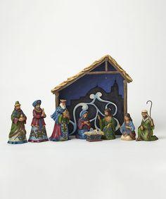 Look at this #zulilyfind! Eight-Piece Nativity Figurine Set by Jim Shore #zulilyfinds