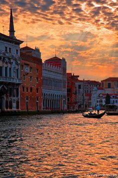 Sunset over Gran Canal, Venice #venice #sunset #italy