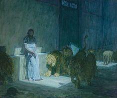 """Henry Ossawa Tanner (1859-1937), """"Daniel in the Lion's Den,"""""""