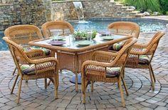 Portside 7 Piece Outdoor Dining Set - Southwest Amber