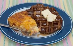 Breakfast Quiche and French Toast Waffles.