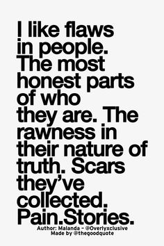 flaws, scars