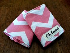 Pink and White Chevron Infant Carseat Strap by TinyEssentials