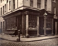 A shop in Brewer Street, Soho, photograph was commissioned by the Society for Photographing Relics of Old London to form part of a. Victorian London, Vintage London, Old London, Victorian Street, Victorian Era, London History, British History, Old Photos, Vintage Photos