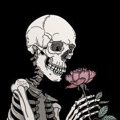 None of these images are mine =) Skeleton Art, Skeleton Makeup, Skull Makeup, Illustration Tumblr, Skull Art, Aesthetic Art, Oeuvre D'art, Wall Collage, Dark Art