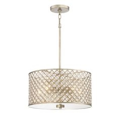 MASTER BATH  Quoizel Juliana 16.75-in Gold Crystal Hardwired Multi-Light Cage Pendant