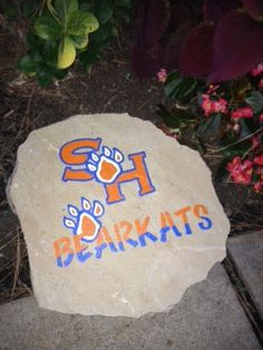 Sam Houston State University - SHSU Decorative Yard/Garden Rock