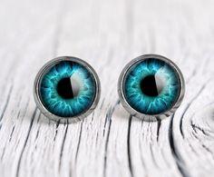 Turquoise Eyes Stud Earrings Small Gl Ear Studs Es15