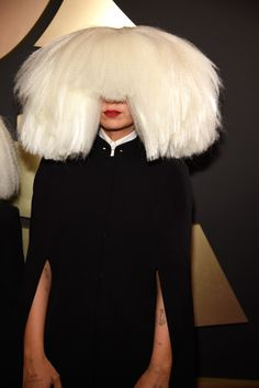 Sia arrives at the 57th Annual GRAMMY Awards on Feb. 8 in Los Angeles