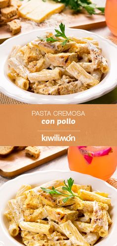 An easy and delicious pasta with cream, a touch of fine herbs and delicious grilled chicken breast. Try this sensational recipe that in addition to everything is prepared in 30 minutes. Do not waste time Pasta Dinner Recipes, Easy Pasta Recipes, Easy Meals, Healthy Recipes, Pasta Pollo, Pasta Facil, Pasta Casera, Sausage Pasta Bake, Pasta Cremosa