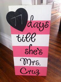 West Sac Honey: {DIY: Wedding Countdown Sign}