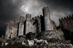 Dark Castle Art Print by Carlos Caetano Dark Castle, Gothic Castle, Medieval Castle, George Carlin, Cardiff, Halloween Accessoires, Mini Ventilator, The Castle Of Otranto, Dark Fantasy