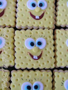 SÜNGER BOB KURABİYELERİ – SPONGE BOB COOKİE at PASTA FIRINIM Pasta Kurabiye ve Şeker Hamuru Çalışmaları