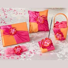 Hot Pink and Orange Wedding Collection