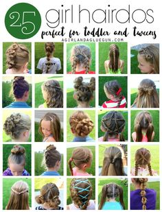 Hairstyles | 25 easy hair styles for toddlers, tweens, and kids