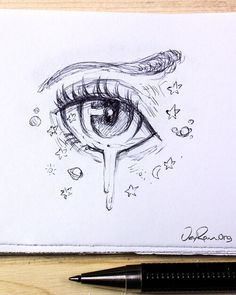 Character Sketches 855683997938762948 - Female Anime Eye Drawing & Design (Printable PDF) — JeyRam Drawings & Sketches – Source by mafaldaconstans drawing sketches easy eye Anime Drawings Sketches, Cool Art Drawings, Pencil Art Drawings, Anime Eyes Drawing, Drawings Of Eyes, Realistic Drawings, Drawing Of An Eye, Drawing Art, Simple Cute Drawings