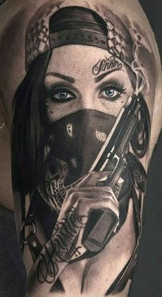 Gangster Tattoos, Dope Tattoos, Hand Tattoos, Chicanas Tattoo, Skull Girl Tattoo, Simple Forearm Tattoos, Girl Face Tattoo, Clown Tattoo, Badass Tattoos