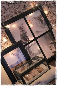 """DIY - faux """"french"""" windows made from Ikea-frames and tape..."""