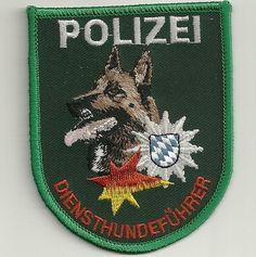 K-9 DienstHundeführer Patch BAYERN SPRENGSTOFF Polizei Abzeich. München MALINOIS
