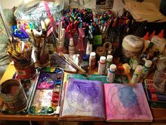 Art journaling space *A wonderful mess!