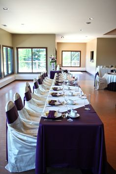 Purple and White. #yyceventrentals www.greateventsrentals.com