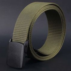Wild Men Canvas Belt Hypoallergenic Metal Automatic Buckle Belt Jeans Mens Luxury Waist High Quality Strap Ceinture Gift #48