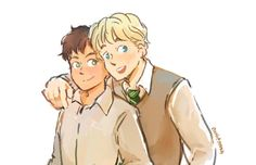 Albus and Scorpius by Mo's Harry Y Ginny, Harry Potter Part 2, Harry Potter Cursed Child, Harry Potter Ships, Harry Potter Books, Harry Potter Fan Art, Harry Potter Fandom, Scorpius And Albus, Albus Severus Potter