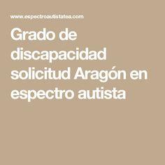 Grado de discapacidad solicitud Aragón en espectro autista