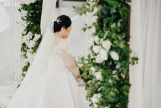 A moment of silence before our bride Jana walks to the alter. We loved her white wedding decor. Bridal gown design by Hannah Kong. Bridal Gowns, Wedding Gowns, Wedding Day, Moment Of Silence, Whimsical Fashion, Walks, Brides, Wedding Decorations, Feminine