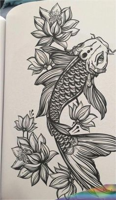 Tattoo Koi Fisch Tattoo am Oberschenkel Koi und Lotus Tattoo Fisch Koi Tattoo . Kunst Tattoos, Neue Tattoos, Bild Tattoos, Arm Tattoos, Tattoo Drawings, Body Art Tattoos, Cool Tattoos, Tatoos, Pisces Tattoos