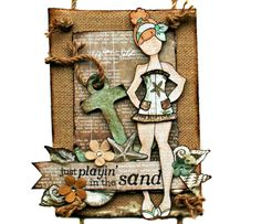 Julie Nutting Canvas #prima #julienutting #mixedmedia #dollstamps